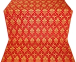 Vine silk (rayon brocade) (red/gold)