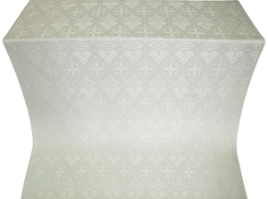 Vine silk (rayon brocade) (white/silver)