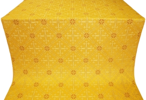 Soloun silk (rayon brocade) (yellow/gold)