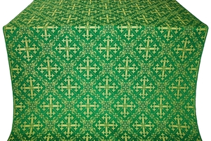 Soloun silk (rayon brocade) (green/gold)