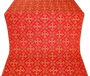 Soloun silk (rayon brocade) (red/gold)