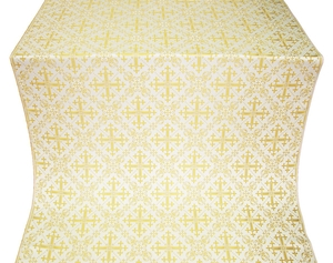 Soloun silk (rayon brocade) (white/gold)