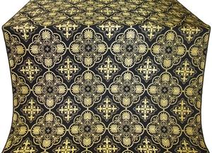 Pskov silk (rayon brocade) (black/gold)