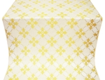 Podolsk silk (rayon brocade) (white/gold)