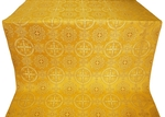 Carpathian silk (rayon brocade) (yellow/gold)