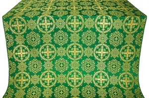 Carpathian silk (rayon brocade) (green/gold)