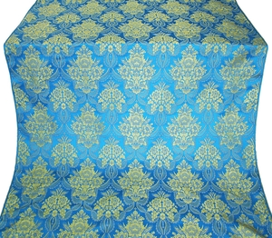Pavlov Bouquet metallic brocade (blue/gold)
