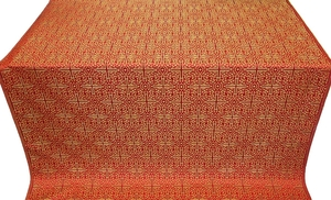 Jerusalem Cross metallic brocade (red/gold)