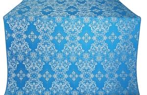 Sloutsk silk (rayon brocade) (blue/silver)