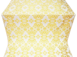 Sloutsk silk (rayon brocade) (white/gold)