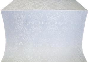 Sloutsk silk (rayon brocade) (white/silver)