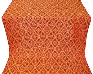 Byzantine silk (rayon brocade) (red/gold)