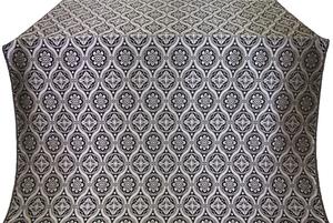 Byzantine silk (rayon brocade) (black/silver)