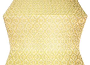 Byzantine silk (rayon brocade) (white/gold)