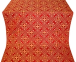 Alania silk (rayon brocade) (red/gold)