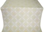 Alania silk (rayon brocade) (white/gold)