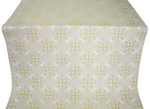 Alania silk (rayon brocade) (white/gold)