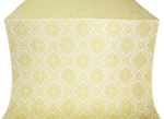Vilno silk (rayon brocade) (white/gold)