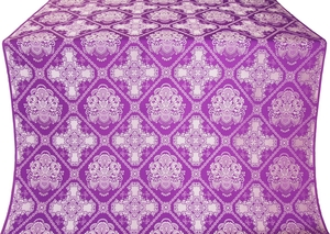 Donetsk silk (rayon brocade) (violet/silver)
