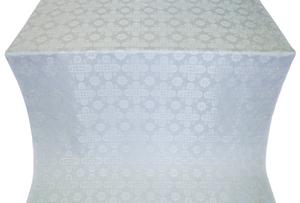 Bethlehem silk (rayon brocade) (white/silver)