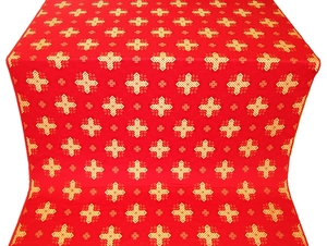 Ancient Byzantium silk (rayon brocade) (red/gold)