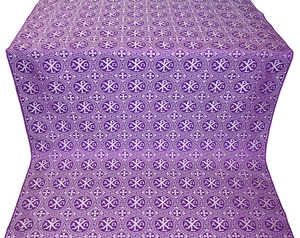 Alpha-and-Omega silk (rayon brocade) (violet/silver)