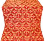 Koursk silk (rayon brocade) (red/gold)