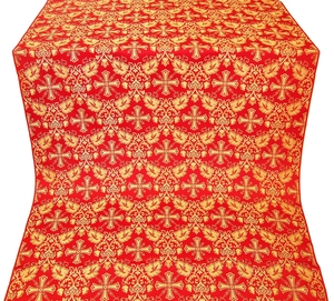Koursk silk (rayon brocade) (red/gold)