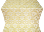 Koursk silk (rayon brocade) (white/gold)