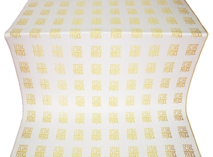 Abakan silk (rayon brocade) (white/gold)