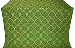 Kazan' silk (rayon brocade) (green/gold)