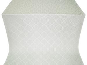 Kazan' silk (rayon brocade) (white/silver)