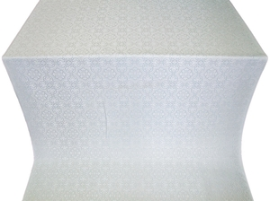 Vasiliya silk (rayon brocade) (white/silver)