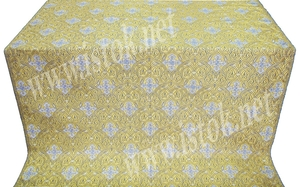 Sardis white/gold metallic brocade