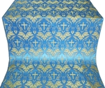 Greek Vine metallic brocade (blue/gold)