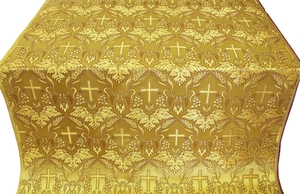 Greek Vine metallic brocade (yellow/gold)