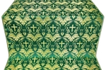 Greek Vine metallic brocade (green/gold)