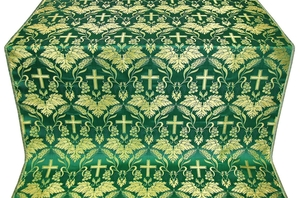 Greek Vine metallic brocade (green/gold)