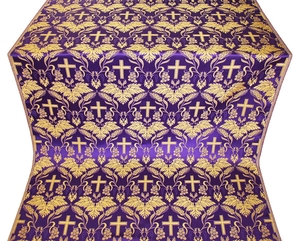 Greek Vine metallic brocade (violet/gold)