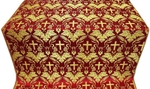 Greek Vine metallic brocade (red/gold)
