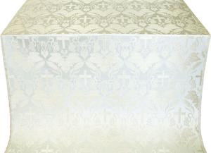 Greek Vine metallic brocade (white/silver)