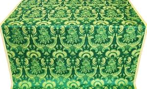 Samaria metallic brocade (green/gold)