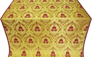 Vase metallic brocade (yellow/gold)