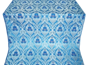 Vase metallic brocade (blue/silver)
