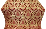 Vase metallic brocade (red/gold)