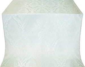 Vase metallic brocade (white/silver)
