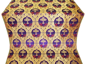 Brabant metallic brocade (violet/gold)