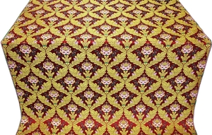 May metallic brocade (red/gold)