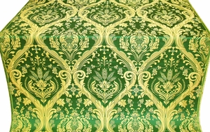 Pharos metallic brocade (green/gold)
