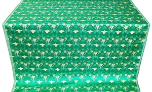 Dove metallic brocade (green/gold)